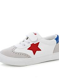 Boys' Sneakers Spring Fall Comfort Leatherette Outdoor Casual Flat Heel Hook & Loop Lace-up Walking
