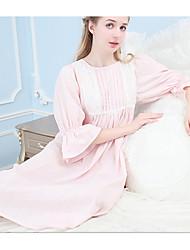 Babydoll & slips Nachtwäsche,Spitze einfarbig-Baumwolle Mittelmäßig Damen