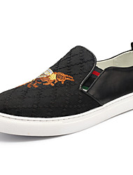 Men's Loafers & Slip-Ons  Embroidered Shoes Fabric Outdoor Casual Flat Heel Animal Print Walking Shoes
