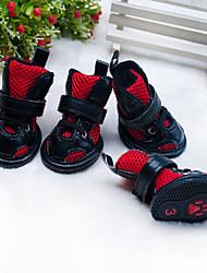 Gatos Cães Sapatos e Botas Fofo Da Moda Casual Esportivo Clássico Casamento Aniversário Reversível Formais Vermelho Rosa claro Pele PU
