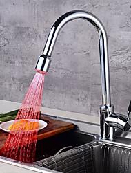 Moderne Débit Normal Grand / Haut Arc Vasque Douche Avec spray démontable with  Soupape céramique Mitigeur un trou for  Chrome , Robinet