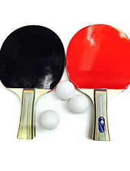 Ping Pang/Table Tennis Rackets Ping Pang/Table Tennis Ball Ping Pang Rubber Short Handle Pimples 1 Racket 3 Table Tennis BallsIndoor