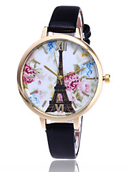 Fashion EiffelTower Watch Beauty Women Garden Flower Wrist Watch Casual Quartz Watch Gift Relogio Feminino