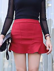 Sign Claret 6010 # 2015 exclusive custom high elastic thin wild flounced skirt fishtail skirt bust