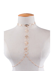 Women's Body Jewelry Body Chain Fashion Copper Flower Jewelry For Party Special Occasion Casual 1pc
