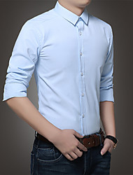 Vier Jahreszeiten koreanische Version von schmalen Gezeiten Eisen Männer&# 39; s Business Casual Langarm-Shirt Normallack Arbeit Hemd