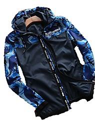 Men's Hiking Jacket Waterproof Quick Dry Windproof Ultraviolet Resistant Breathable Lightweight Jacket Tops for Spring M L XL XXL XXXL