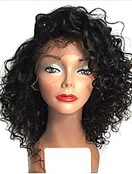 Short Human Hair Lace Wigs Brazilian Virgin Human Hair Wigs Bob Curly Wigs Full Lace Wig With Baby Hair For Women
