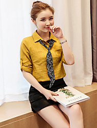 Women's Plus Size Sexy All Seasons T-shirt,Solid V Neck Sleeveless Silk Medium