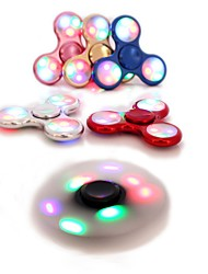 Spinning Top Hand Spinner Toys Novelty & Gag Toys LED Lighting Triangle Metal