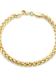Consise 18K Yellow Gold Plated Mother's Day Gift Twisted Rope bracelet Womens Elegant Jewelry Lucky Female Bracelet