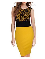 Women's Lace style lace stitching temperament dress vest skirt