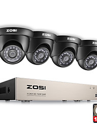 ZOSI®8CH CCTV System 1080N HDMI 4IN1 DVR 4PCS 720P IR Outdoor Camera Home TVI Security System Surveillance Kits 1TB HDD