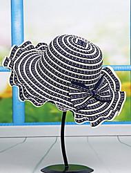 Mujer Primavera Verano Otoño Todas las Temporadas Vintage Bonito Fiesta Trabajo Casual Malla PajaBombín/Cloche Sombrero de Paja Sombrero