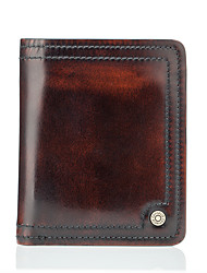 Contacts Genuine Leather Vintage Compact Bifold Wallet Formal Casual Office & Career-Wallet-Cowhide-Men
