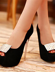 Women's Sandals Summer Slingback PU Casual Chunky Heel