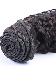 3 unidades / lote 8a série 100% Mechas humano brasileiro afro trama extensão do cabelo encaracolado weave cor natural em estoque