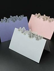 Papier nacré Porte-cartes de lieu Marque-place debout Sac en polyéthylène