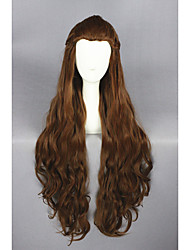 Long Wave Hobbits-Tauriel Brown 32inch Anime Cosplay Wigs CS-197A