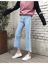 знак весны корейское ретро свободная талия была тонкой керлинг джинсовые широкие брюки ноги женские модели прилива езды