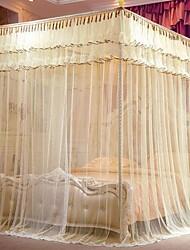 Cilíndrico, mosquiteiro, redes, topo, inoxidável, arrojado, stent, chão, tribunal, mosquiteiros, suporte, instalação