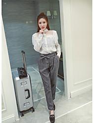 CHINSTUDIO custom autumn new Korean Fan Leisi white shirt female long-sleeved shirt stitching