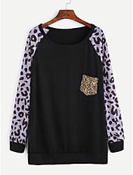 nouveau t-shirt de poche coutures sequin léopard europe ebay