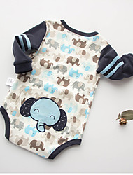 Baby Animal Print One-Pieces,Cotton Summer