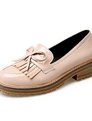 Women's Heels Club Shoes PU Office & Career Party & Evening Dress Low Heel Tassel