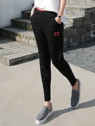 Знак модели осенью спортивные брюки женские ноги штаны Вэй штаны случайные брюки 2017 новые брюки гарем девять очков штаны пучка