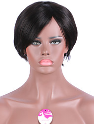 Short Bob Wigs Machine Wig Human Hair Wigs None Lace Wig 6 Inch 100% Human Hair Silky Straight Short Bob Wigs Women None Lace Wigs with Bangs Cheap