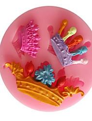 Three Crown Liquid Silicone Double Sugar Cake Mold Crown Molding Chocolate Mould Ultralight Clay Mold