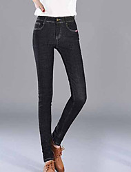 Women's Low Rise Stretchy Jeans Pants,Simple Skinny Solid