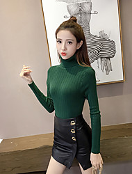 Sign fall and winter clothes new Slim was thin half-collar women's long-sleeved sweater hedging bottoming