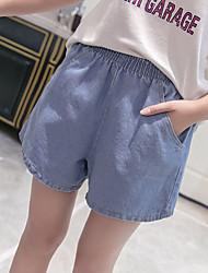 2017 été version coréenne de la graisse de taille XL élastique mm, plus d'engrais en vrac jeans jambe large short femmes