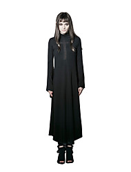Punk Rave Women's Casual Party Sexy Punk Gothic Dress Maxi Long Sleeve dress