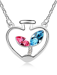 Women's Pendant Necklaces Crystal Heart Chrome Luxury Jewelry For Wedding Party