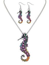 Jewelry Set Jewelry Unique Design Euramerican Handmade Bohemian Punk Statement Jewelry Resin Chrome Animal Shape