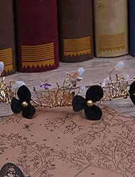 Diamantes Sintéticos Aleación Tejido Celada-Boda Ocasión especial Casual Tiaras Bandas de cabeza Clip de Pelo 1 Pieza