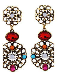 Women's Earrings Jewelry Fashion Vintage Euramerican Gemstone Chrome Jewelry Jewelry For Wedding Party Special Occasion Gift