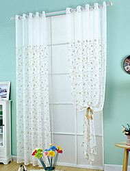 One Panel Curtain European Designer Neoclassical Mediterranean , Geometic Living Room Polyester Material Sheer Curtains ShadesHome