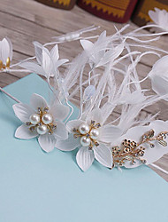 Feather Fabric Headpiece-Wedding Special Occasion Casual Outdoor Headbands 1 Piece