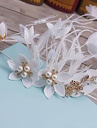 Перья ткань головной убор-свадьба специальный случай случайные наружные повязки 1 шт