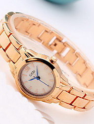 Жен. Модные часы Японский кварц Защита от влаги Позолоченное розовым золотом сплав Группа Cool Повседневная Золотистый