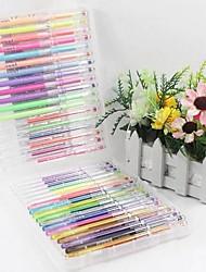 1 Box 36 Pieces Pastel Flash Pen Color Pen Fluorescent Pen 0.8mm