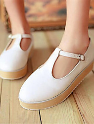 Women's Flats Winter Comfort PU Casual Flat Heel