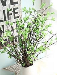 1 Une succursale Rotin Plantes Fleur de Table Fleurs artificielles