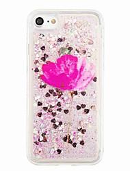 Per Liquido a cascata Fantasia/disegno Custodia Custodia posteriore Custodia Glitterato Fiore decorativo Morbido TPU per AppleiPhone 7