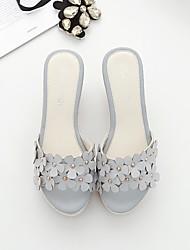 Damen High Heels Sandalen Fersenriemen PU Frühling Winter Lässig Weiß Grau Rosa 7,5 - 9,5 cm