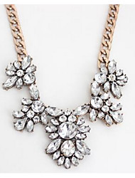 Women's Pendant Necklaces Imitation Diamond Chrome Simulated Diamond Flower Style Jewelry For Party Gift 1pc